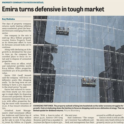 Emira turns defensive in tough market